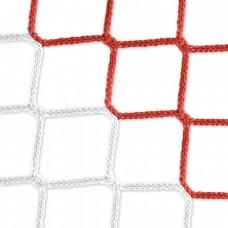 Goal net (red-white) – 7,32 x 2,44 m, 4 mm PP, 80 200 cm