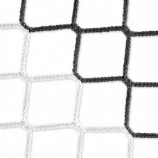 Goal net (black-white) – 7,32 x 2,44 m, 4 mm PP, 80 200 cm