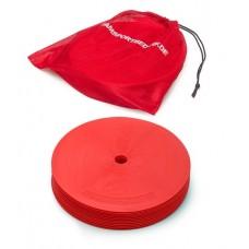 Marking discs ø 21 cm Set of 12 red