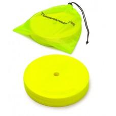 Marking discs ø 21 cm Set of 12 neon yellow