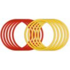 Set of 10 coordination rings yellow