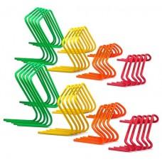 10 Mini hurdles - width 15 cm orange