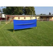 Mobile goalkeeper screen - Width: 3 m - 2 cloth