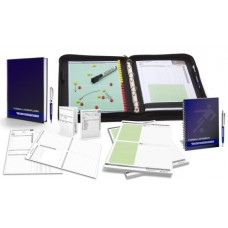 FOOTBALL - TRAINERSET 3 trainer folder workbook notebook notepad game observation sheets