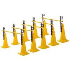 Ladder Hurdles Set of 5 Height 52 cm Yellow