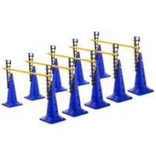 Ladder Hurdles Set of 5 Height 52 cm Blue