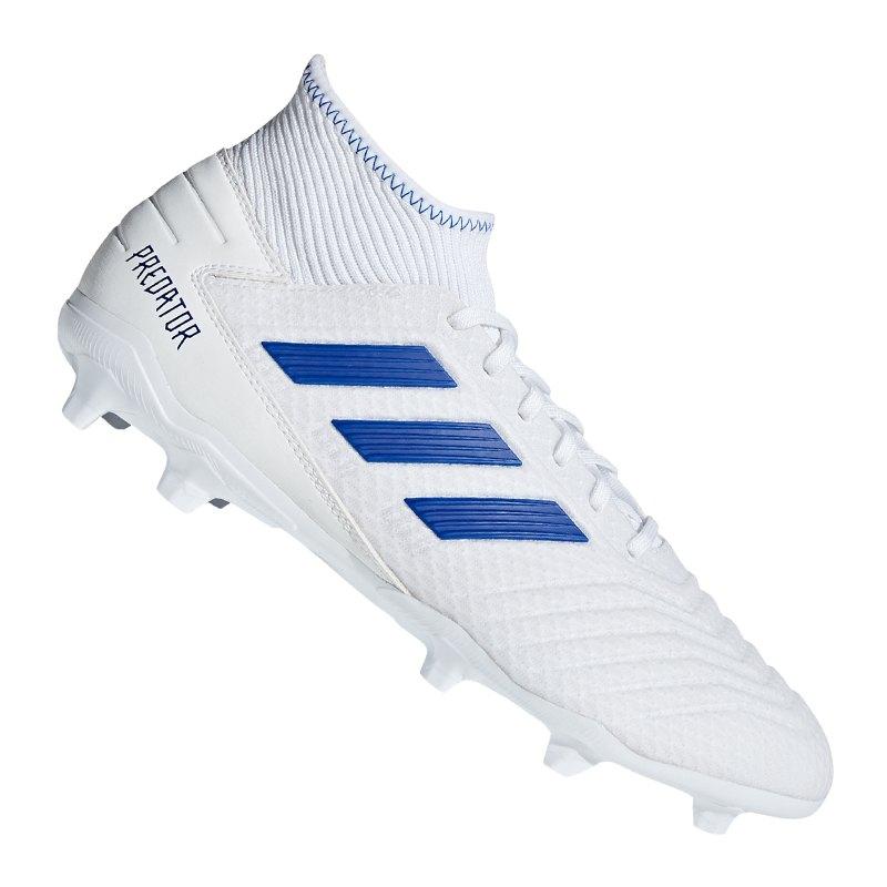 100% high quality delicate colors cozy fresh adidas Predator 19.3 FG Weiss Blau